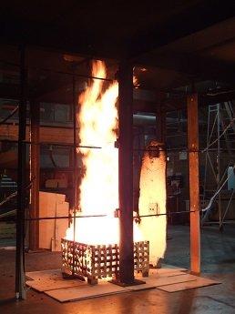 LOCAFI: déterminer la température d'un poteau soumis à un feu localisé